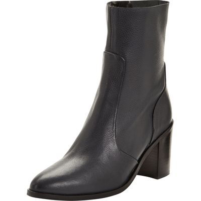 V by Very Clare Leather High Ankle Boots