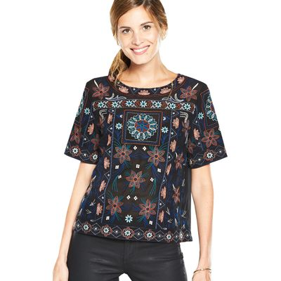 V By Very Embroidered Shell Top