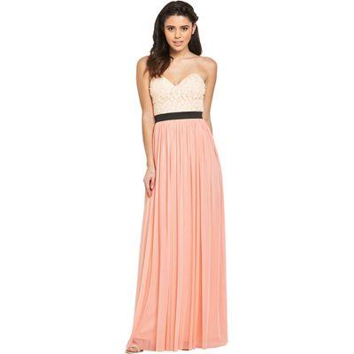 Rare Lace Top Bustier Maxi Dress