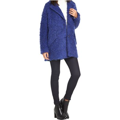 Replay Mohair Cobalt Blue Coat