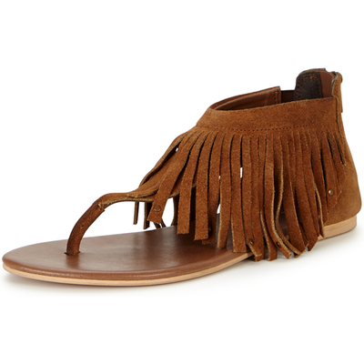 V by Very Victory Fringed Toe Post Sandals