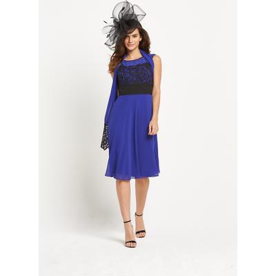 Berkertex Lace Detail Dress With Matching Shawl