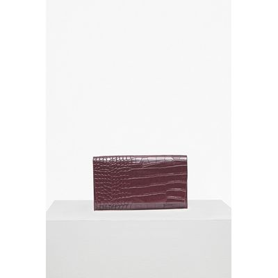 Contemporary Flap Front Wallet - silver