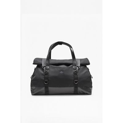 Casual Roll Top Holdall - black