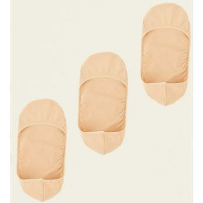 3 Pack Nude Invisble Pop Socks New Look