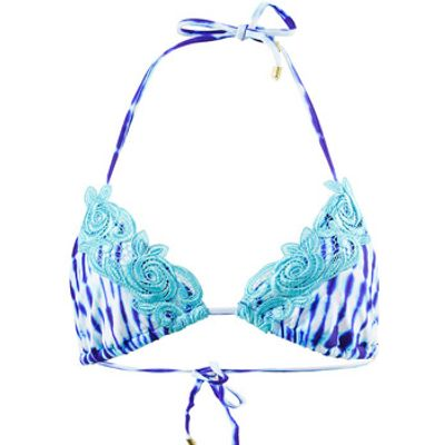 Beach Bunny  Blue Triangle top Girl Crush Ultra Violet Tie Dye  women's Mix & match swimwear in