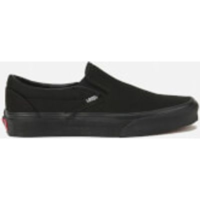 Vans Classic Slip-On Canvas Trainers - Black - 10 - Black