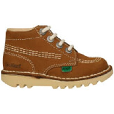 Kickers Infant Kick Hi Boots - Tan - UK 7 Infant/EU 24 - Tan