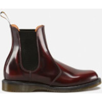 Dr. Martens Women's Kensington Flora Arcadia Leather Chelsea Boots - Cherry Red - UK 8 - Red