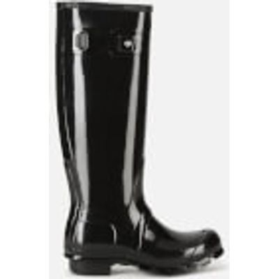 Hunter Women's Original Tall Gloss Wellies - Black - UK 7 - Black