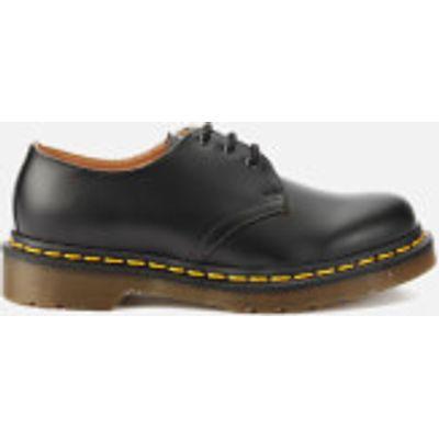 Dr. Martens Originals 1461 3-Eye Smooth Leather Gibson Shoes - Black - UK 3 - Black