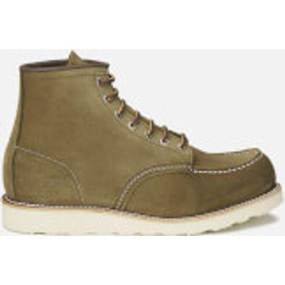 Red Wing Men's 6 Inch Moc Toe Leather Lace Up Boots - Olive Mohave - UK 9/US 10 - Green