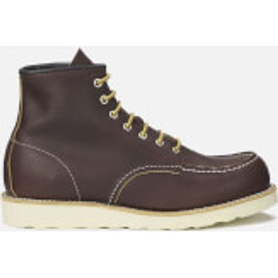 Red Wing Men's 6 Inch Moc Toe Leather Lace Up Boots - Briar Oil Slick - UK 8/US 9 - Brown