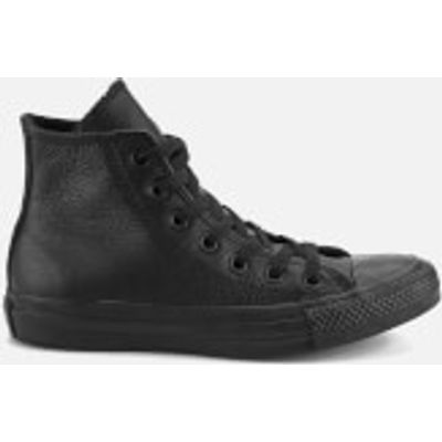 Converse Unisex Chuck Taylor All Star Leather Hi-Top Trainers - Black Monochrome - UK 11 - Black