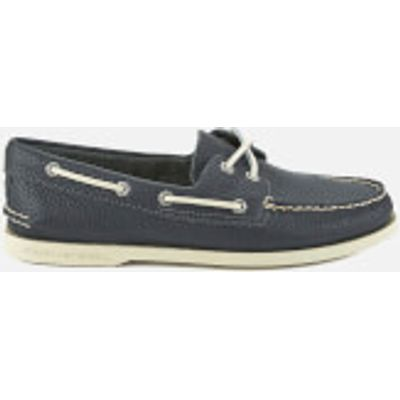 Sperry Men's A/O 2-Eye Leather Boat Shoes - Navy - UK 7 - Navy