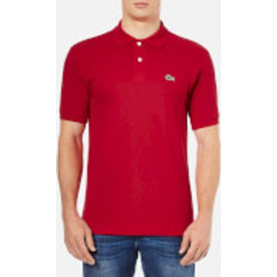 Lacoste Men's Basic Pique Short Sleeve Polo Shirt - Red - 3/S - Red