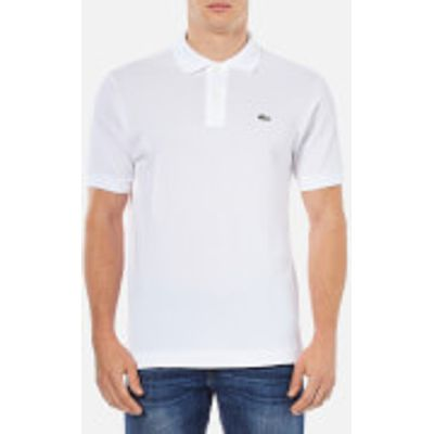 Lacoste Men's Basic Pique Short Sleeve Polo Shirt - White - 3/S - White