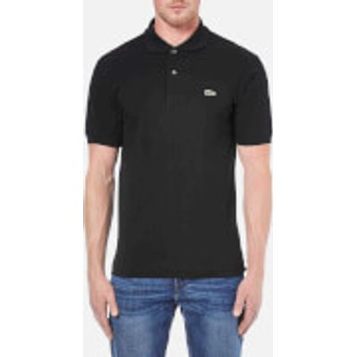 Lacoste Men's Basic Pique Short Sleeve Polo Shirt - Black - 2/XS - Black