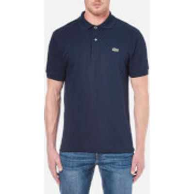 Lacoste Men's Basic Pique Short Sleeve Polo Shirt - Navy - 3/S - Blue