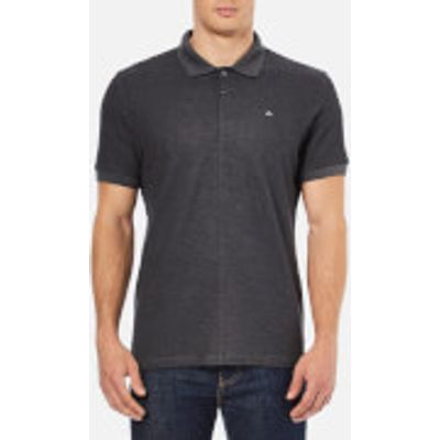J.Lindeberg Men's Rubi Slim Fit Polo Shirt - Dark Grey Melange - L - Grey
