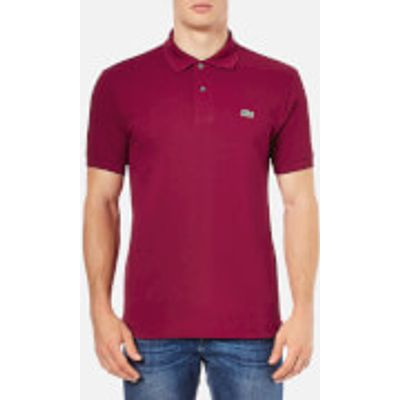 Lacoste Men's Polo Shirt - Bordeaux - 3/S - Red