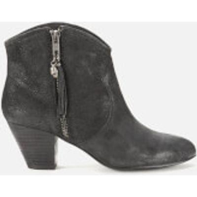 Ash Women's Jess Reverse Broken Suede Heeled Ankle Boots - Black - UK 3 - Black