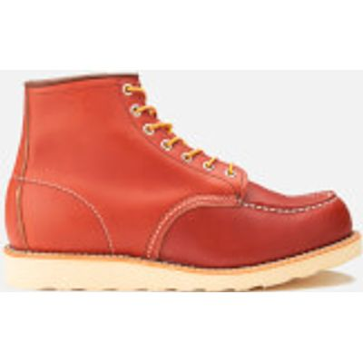 Red Wing Men's 6 Inch Moc Toe Leather Lace Up Boots - Oro Russet Portage - UK 11/US 12 - Burgundy/Re