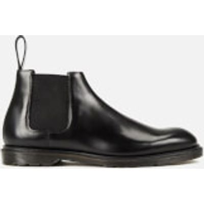 Dr. Martens Men's Henley Wilde Polished Smooth Leather Low Chelsea Boots - Black - UK 9 - Black