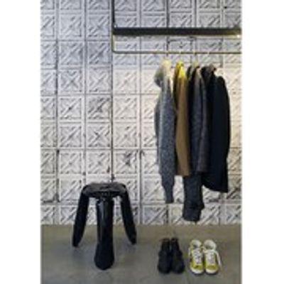 8718421160273 | NLXL Brooklyn Tin Wallpaper Tin 04 by Merci   Multi Store