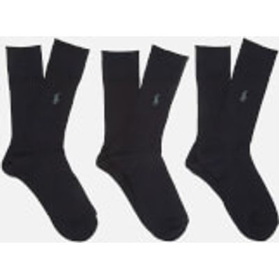 3611588510545 | Polo Ralph Lauren Men s Egyptian Cotton Ribbed Socks  3 Pack    Black   EU 39 42 UK 6 8 Store
