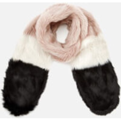 Maison Scotch Women's Faux Fur Scarf - Blush/Black