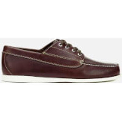 G.H Bass & Co. Men's Camp Moc Jackman Pull Up Leather Boat Shoes - Dark Brown - UK 7 - Brown