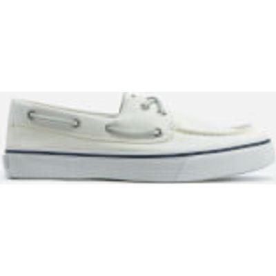 Sperry Men's Bahama 2-Eye Canvas Boat Shoes - White - UK 11 - White