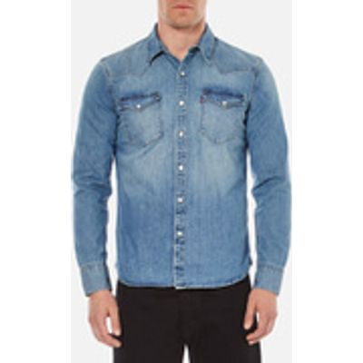 Levi's Men's Barstow Western Shirt - Red Cast Stone - L - Blue