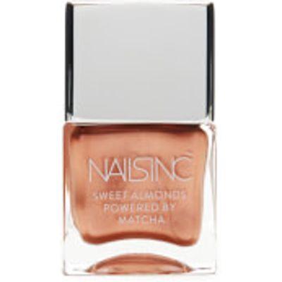 nails inc. Powered by Matcha Mayfair Market Sweet Almond Nail Varnish 14ml