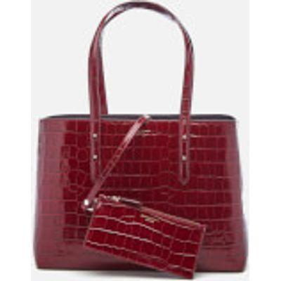 Aspinal of London Women's Regent Croc Tote Bag - Bordeaux
