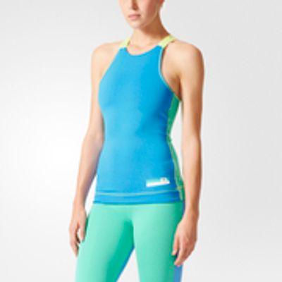 4056562546520 | adidas Women s Stellasport Gym Tank Top   Blue Green   M UK12 14 Store