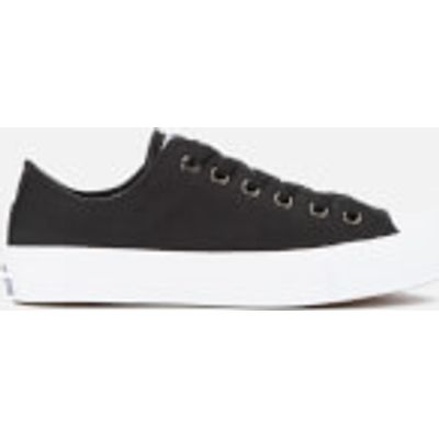 Converse Chuck Taylor All Star II Ox Trainers - Black/White/Navy - UK 4 - Black
