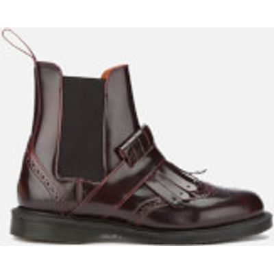 Dr. Martens Women's Tina Arcadia Leather Kiltie Chelsea Boots - Cherry Red - UK 3 - Burgundy