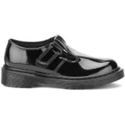 Dr. Martens Kids' Goldie J Patent Leather T Bar Shoes - Black - UK 3 Kids - Black