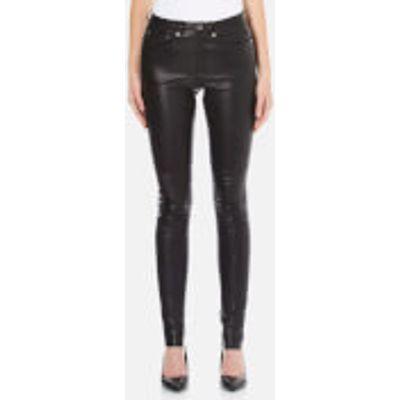 Gestuz Women's Alou Leather Pants - Black - EU 36 - Black