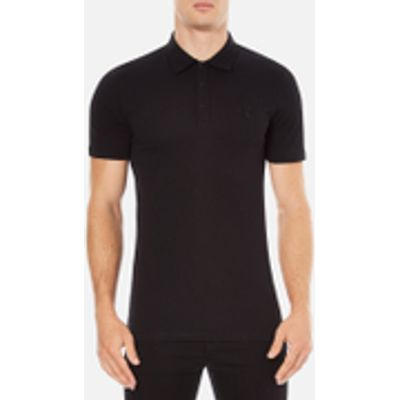 Versace Collection Men's Chest Logo Polo Shirt - Black - XL - Black