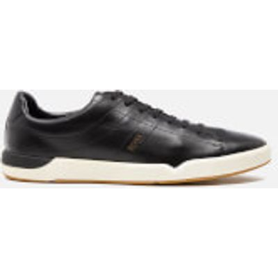 BOSS Orange Men's Stillness Tenn Leather Trainers - Black - UK 10 - Black