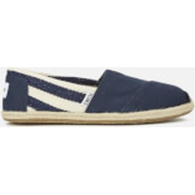 TOMS Women's University Classics Slip-On Pumps - Navy Stripe - UK 5/US 7