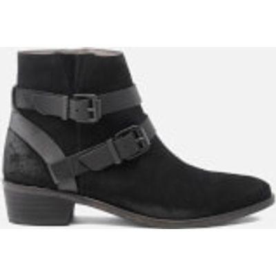 Hudson London Women's Meeya Suede Buckle Heeled Ankle Boots - Black - UK 3 - Black