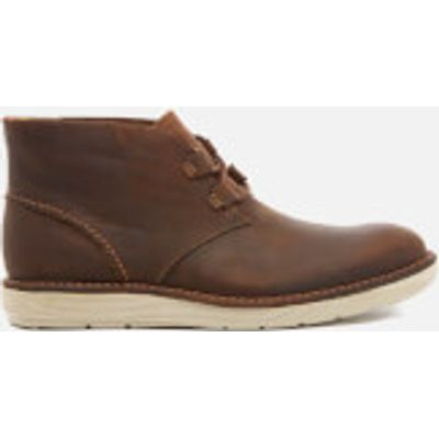 Clarks Men's Fayeman Hi Beeswax Leather Chukka Boots - Beeswax - UK 8 - Brown