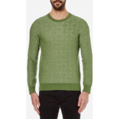 GANT Rugger Men's Textured Crew Neck Knitted Jumper - Chlorophyl Green - M - Green