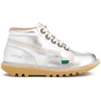 Kickers Kids' Kick Hi Boots - Silver - UK 12.5 Junior/EU 31 - Silver
