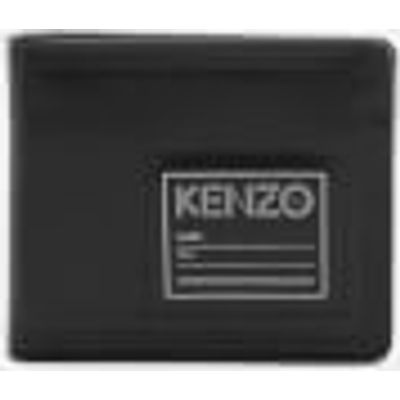 KENZO Men's Leather Card Wallet - Black