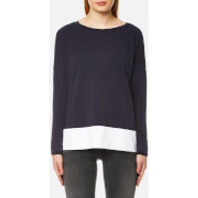BOSS Orange Women's Tersweat Sweatshirt - Dark Blue - S